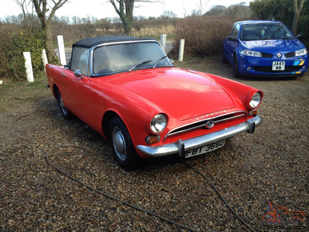 1966 SUNBEAM ALPINE RED SOFT TOP - RARE CAR