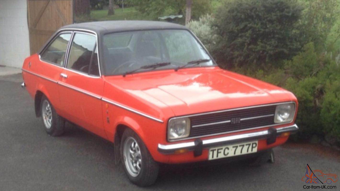 1976 ford escort 1600 ghia mk2 2 door 7900 miles from new. Black Bedroom Furniture Sets. Home Design Ideas