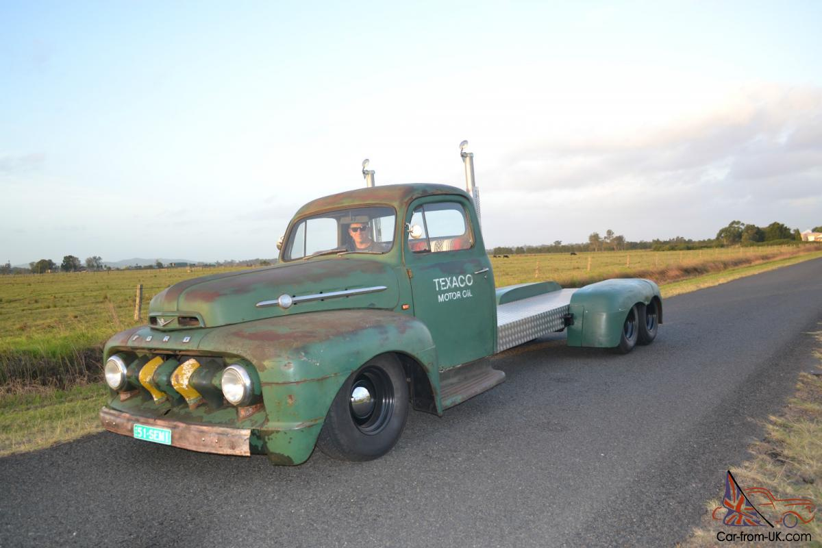 1951 Ford F100 Custom Ratrod Hotrod F Truck Vintage Texaco HOT ROD ...