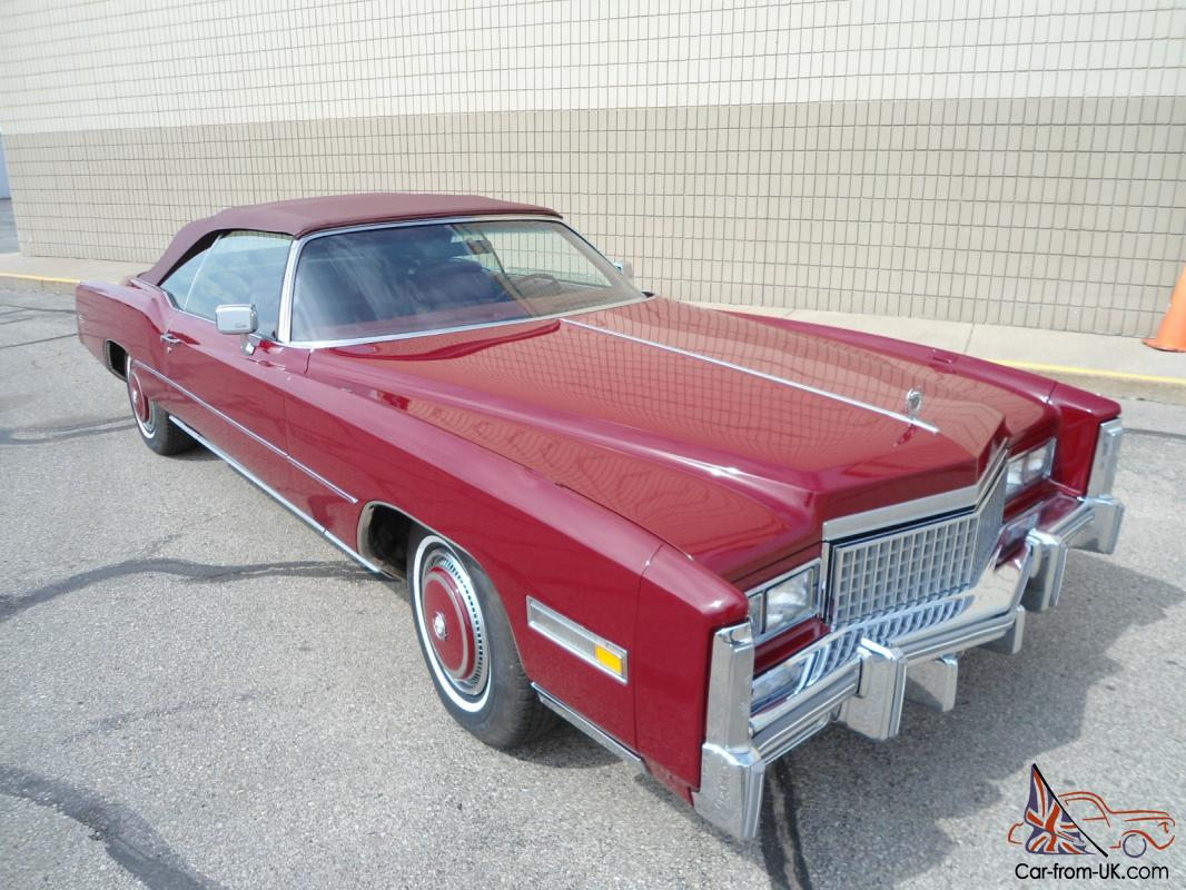 Cadillac Eldorado Convertible Red Ebay Motors 350876175677