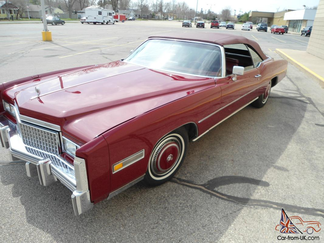 cadillac Eldorado convertible Red eBay Motors #350876175677