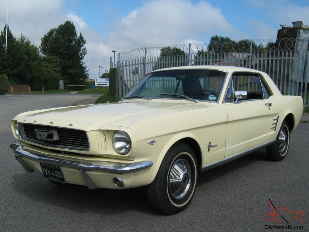 1966 ford mustang coupe yellow 289cui v8 4 7 litre time warp original. Black Bedroom Furniture Sets. Home Design Ideas