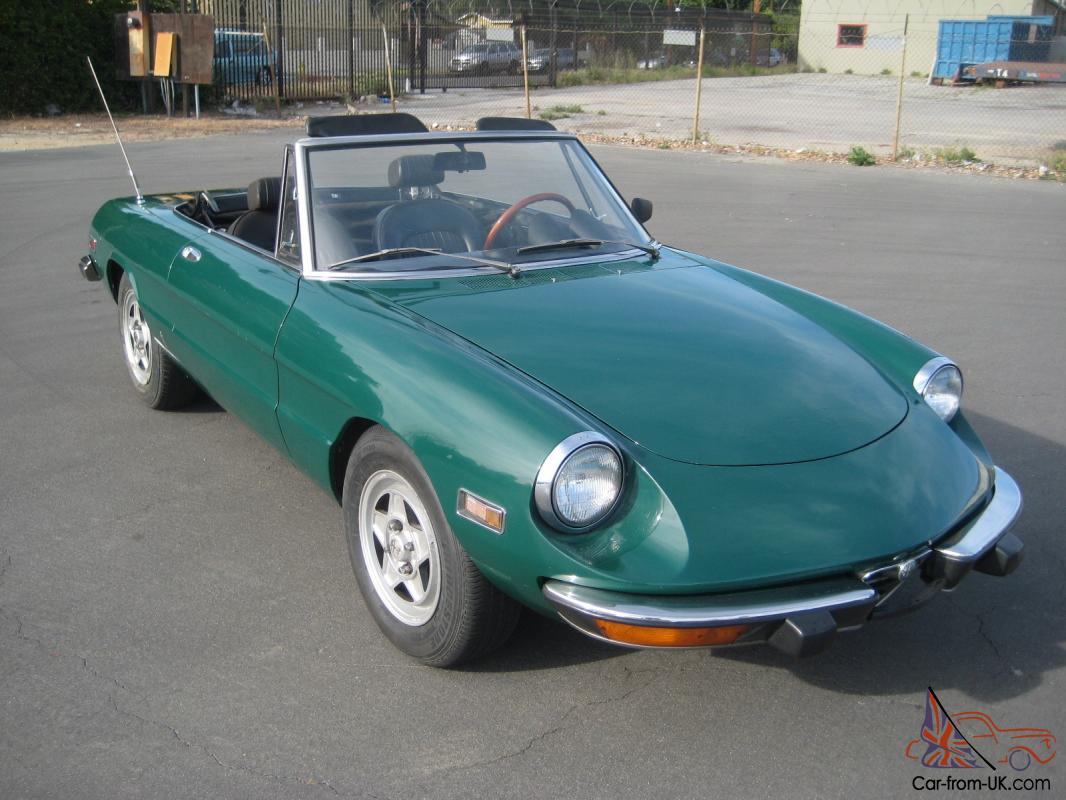 1973 alfa romeo spider veloce awesome. Black Bedroom Furniture Sets. Home Design Ideas