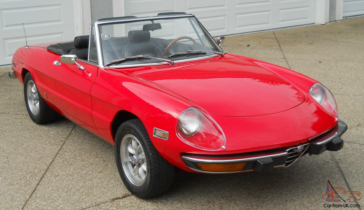 Alfa Romeo with highly desireable chrome bumpers  FANTASTIC CONDITION