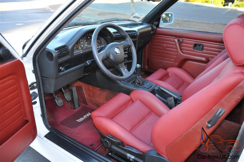 1988 bmw e30 m3 evo iii spec 2 5l engine for White bmw with red interior for sale