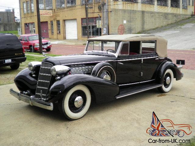 1935 cadillac 355d 4 door convertible sedan. Black Bedroom Furniture Sets. Home Design Ideas