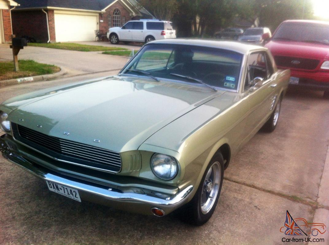 1966 ford mustang lime gold fully restored photo