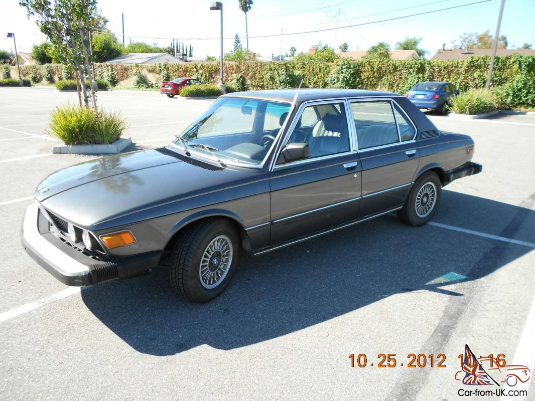 1980 Bmw 528i With 5 Speed Manual Transmission E12 Body