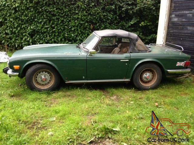 Triumph tr6 left hand drive import for American restoration cars for sale