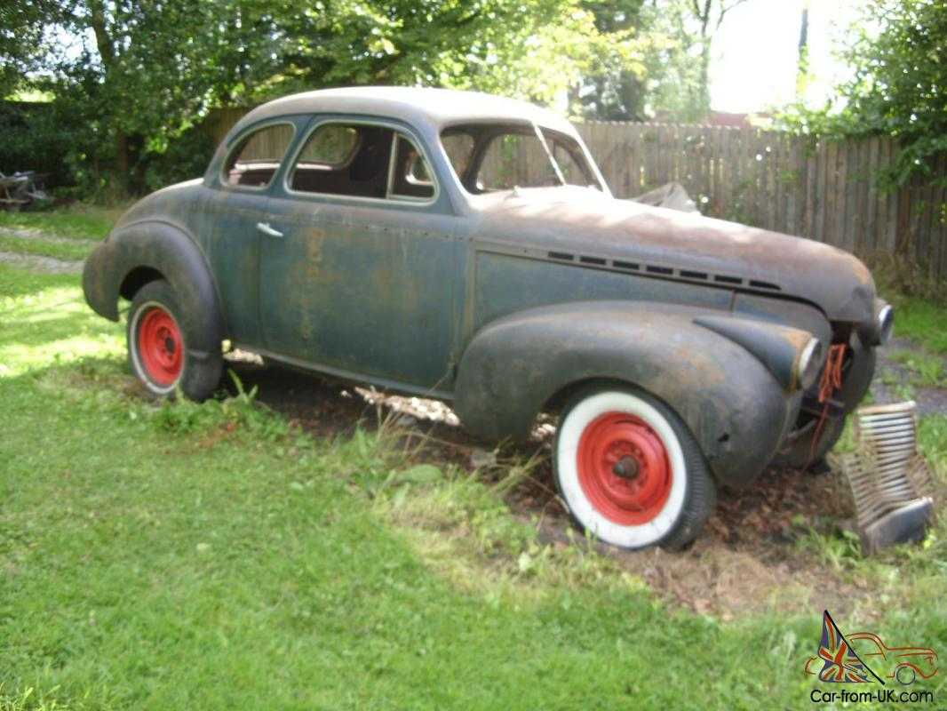 1940 Chevrolet Business Coupe 2 Door Solid Project Hotrod