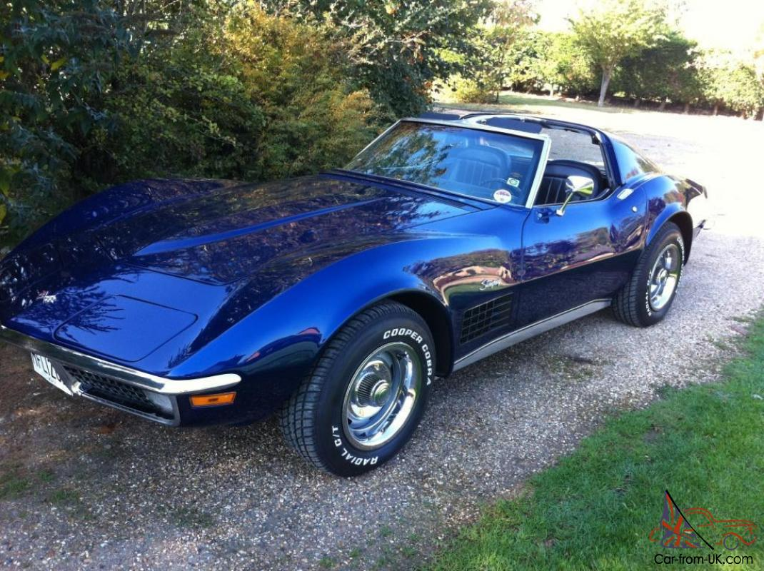 1970 c3 corvette stingray l46 5 7 4 speed manual in mint condition. Black Bedroom Furniture Sets. Home Design Ideas