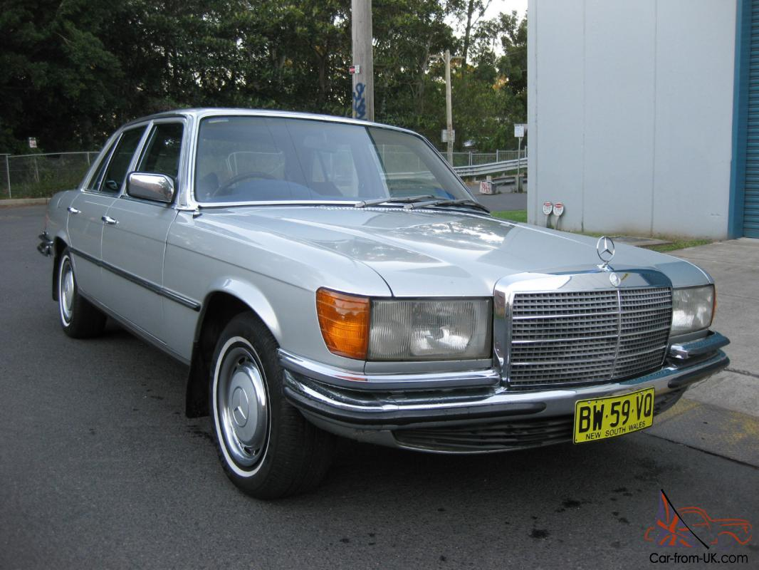 1974 mercedes benz 116 series 350se v8 luxury sedan