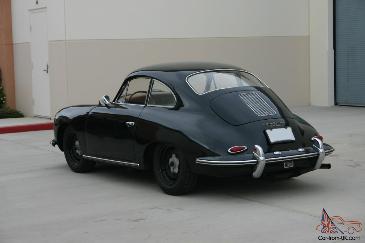 Porsche 356 B 1960 Black Tan California Car Nice Driver