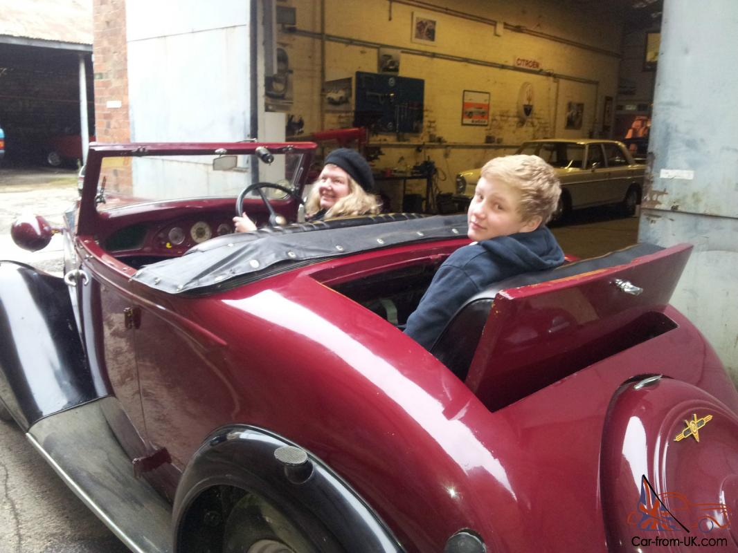 Vauxhall Light 14 Six Drop Head Coupe With Dicky Seat