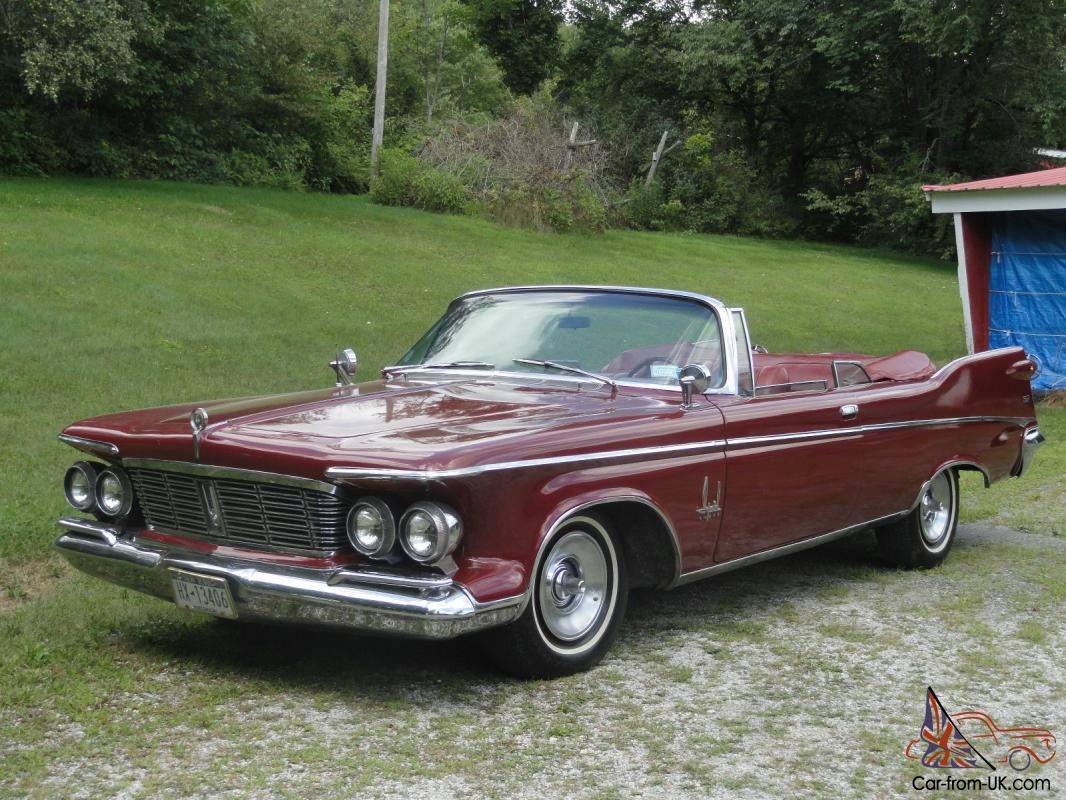 1963 chrysler convertible imperial crown 6 8l for sale. Cars Review. Best American Auto & Cars Review