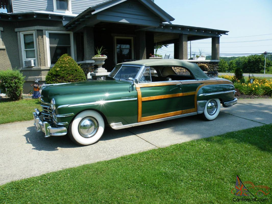 1949 Chrysler New Yorker Town And Country Woody Convertible Photo