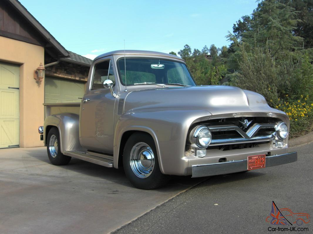 1955 ford truck pick up f 100 custom cab. Black Bedroom Furniture Sets. Home Design Ideas