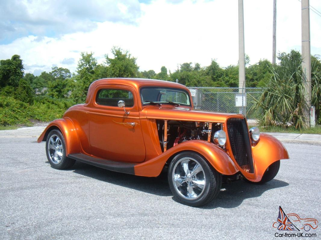 1934 ford 3 window coupe full fender street rod v 8 air pw for 1934 ford 3 window coupe custom