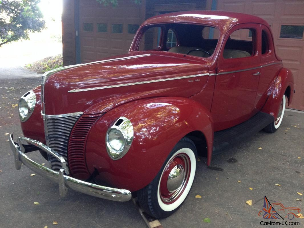 1940 Ford Coupe Deluxe Opera Project Restored Classic New Paint All