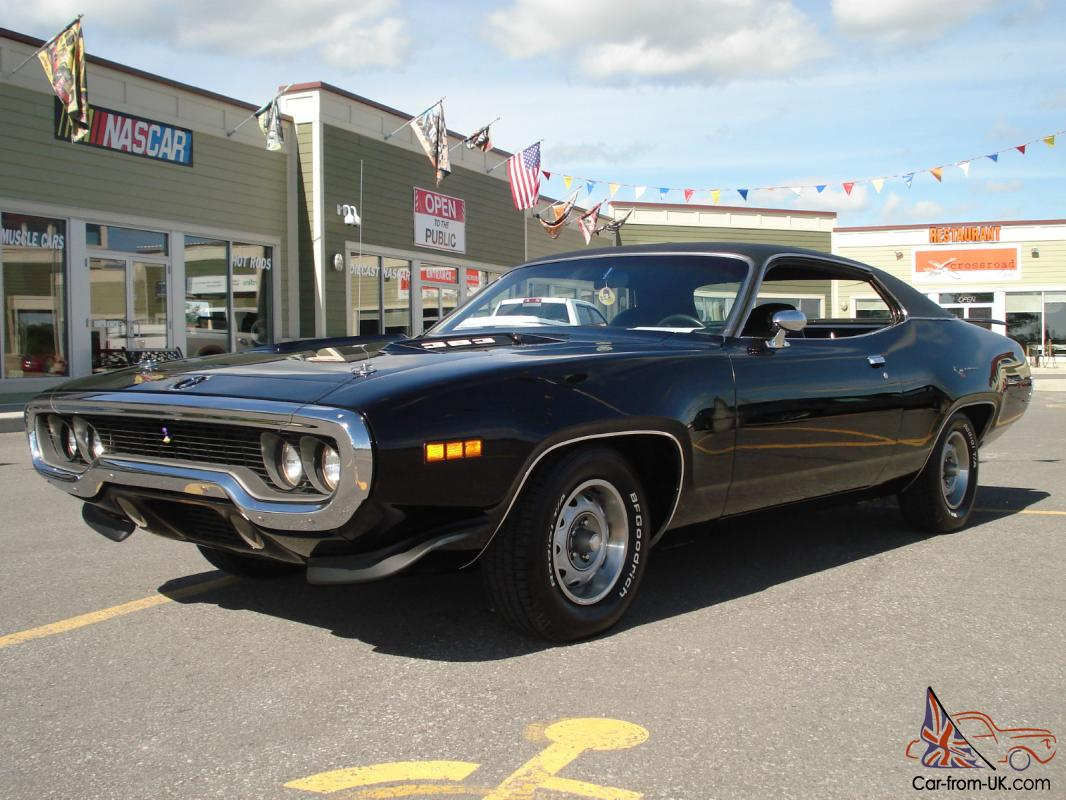 1971 plymouth road runner real deal triple black car. Black Bedroom Furniture Sets. Home Design Ideas