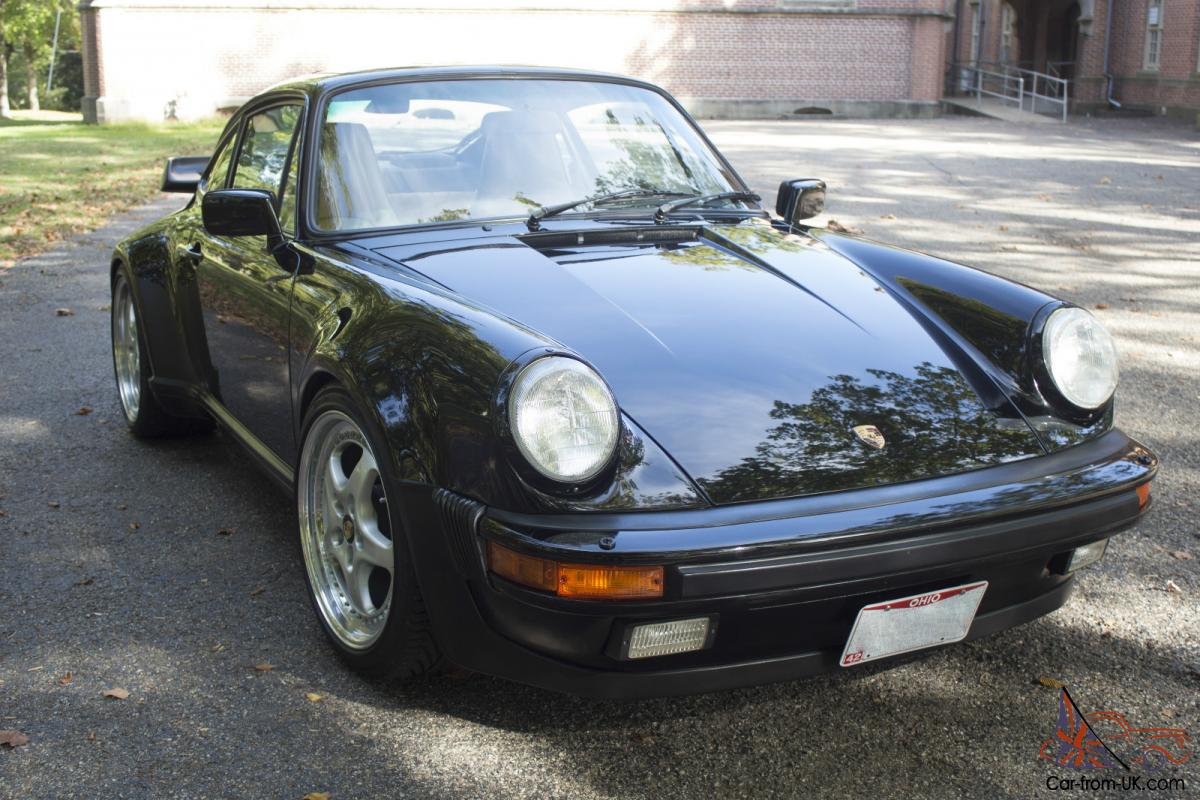 1987 Porsche 911 Turbo 930 Carrera Coupe 2 Door 33l Black W Tan 1982 Wiring Diagram Get Free Image About Interior