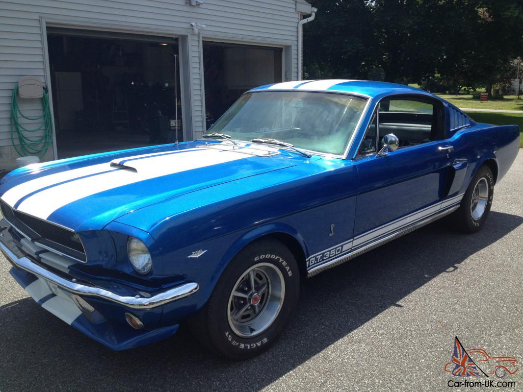 1966 ford mustang fastback gt350 shelby 4 speed high performance tribute