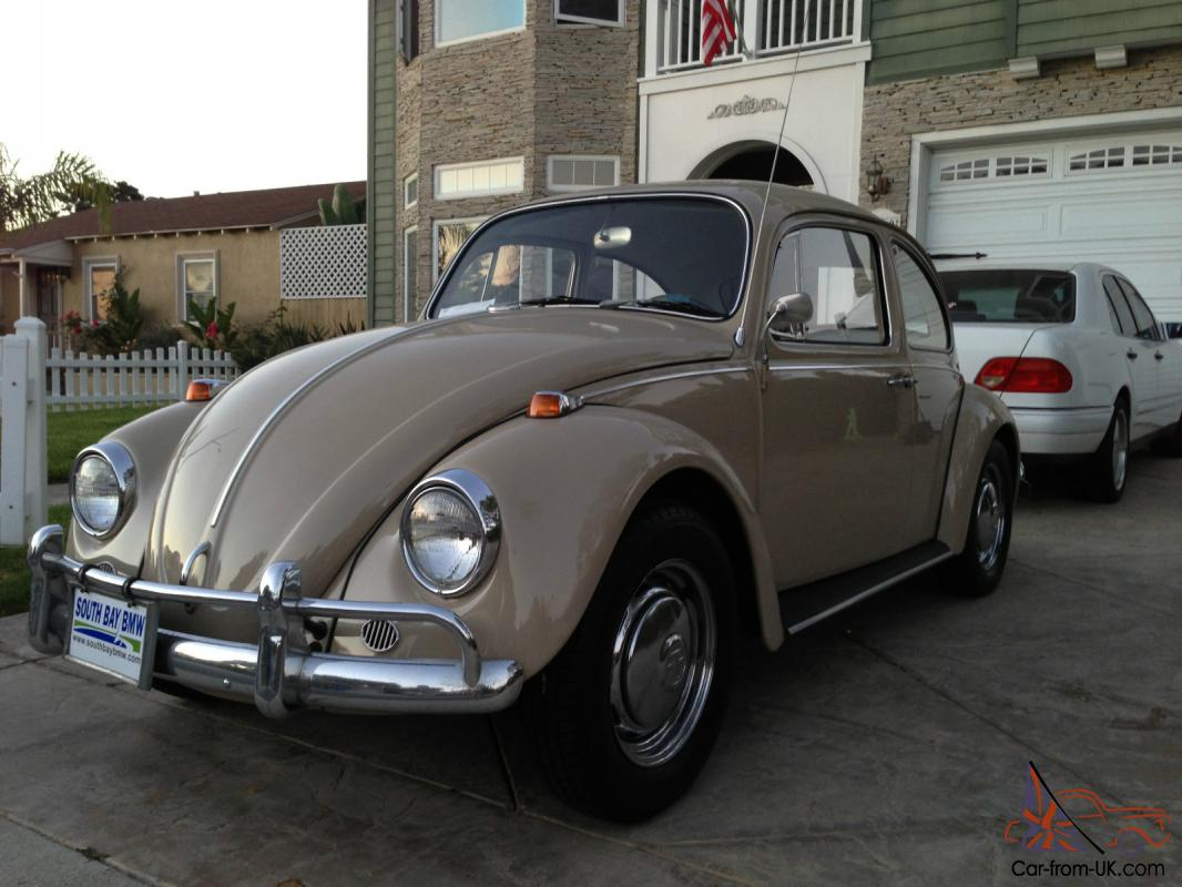 1967 vw bug volkswagen beetle tan savannah beige rare classic. Black Bedroom Furniture Sets. Home Design Ideas