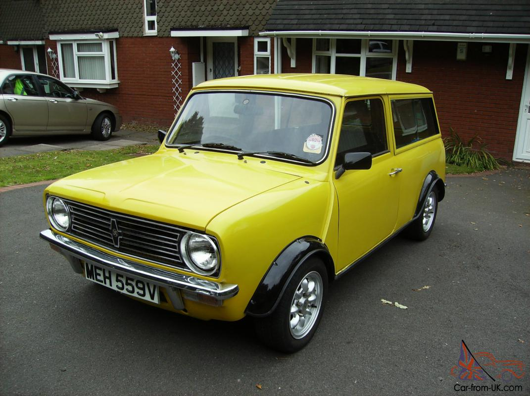 1980 austin morris mini clubman yellow. Black Bedroom Furniture Sets. Home Design Ideas