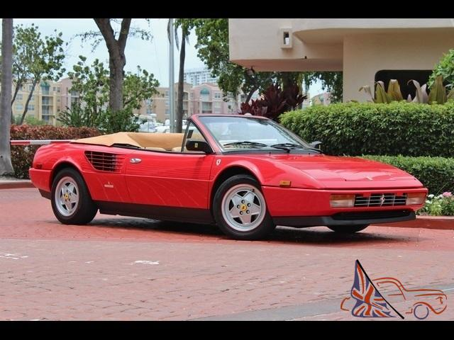 1988 ferrari mondial red 35k serviced convertible. Black Bedroom Furniture Sets. Home Design Ideas