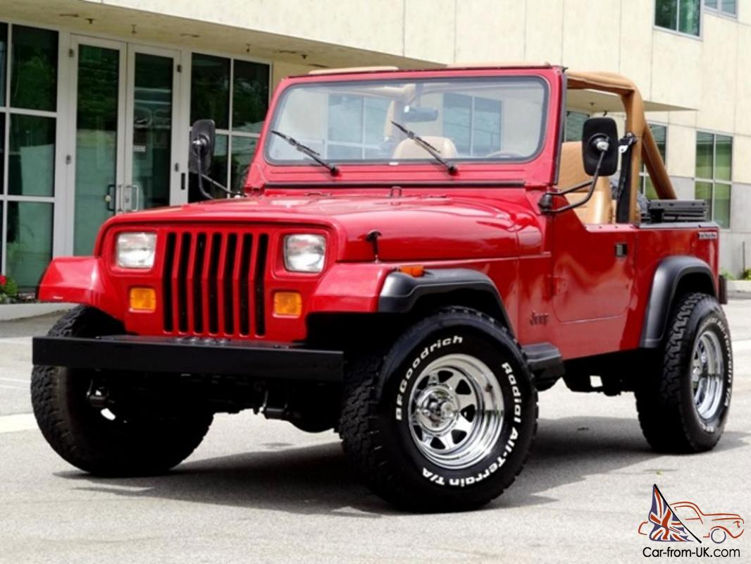 1987 JEEP WRANGLER YJ ONE OWNER LOW MILES 6-CYLINDER 5-SPEED MANUAL NO  RESERVE