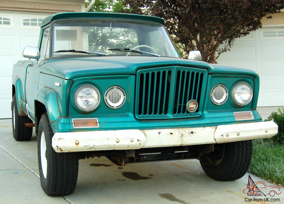 1967 Jeep Gladiator Sprucetip Green Straight 6 Great Condition
