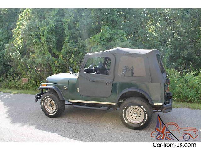 fl jeep cj nice shape drives great newer top doors cd. Black Bedroom Furniture Sets. Home Design Ideas