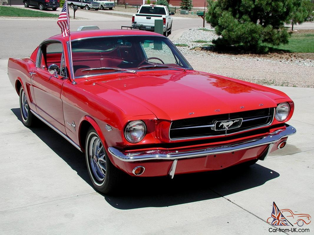 very rare 1965 k code mustang fastback red on red. Black Bedroom Furniture Sets. Home Design Ideas