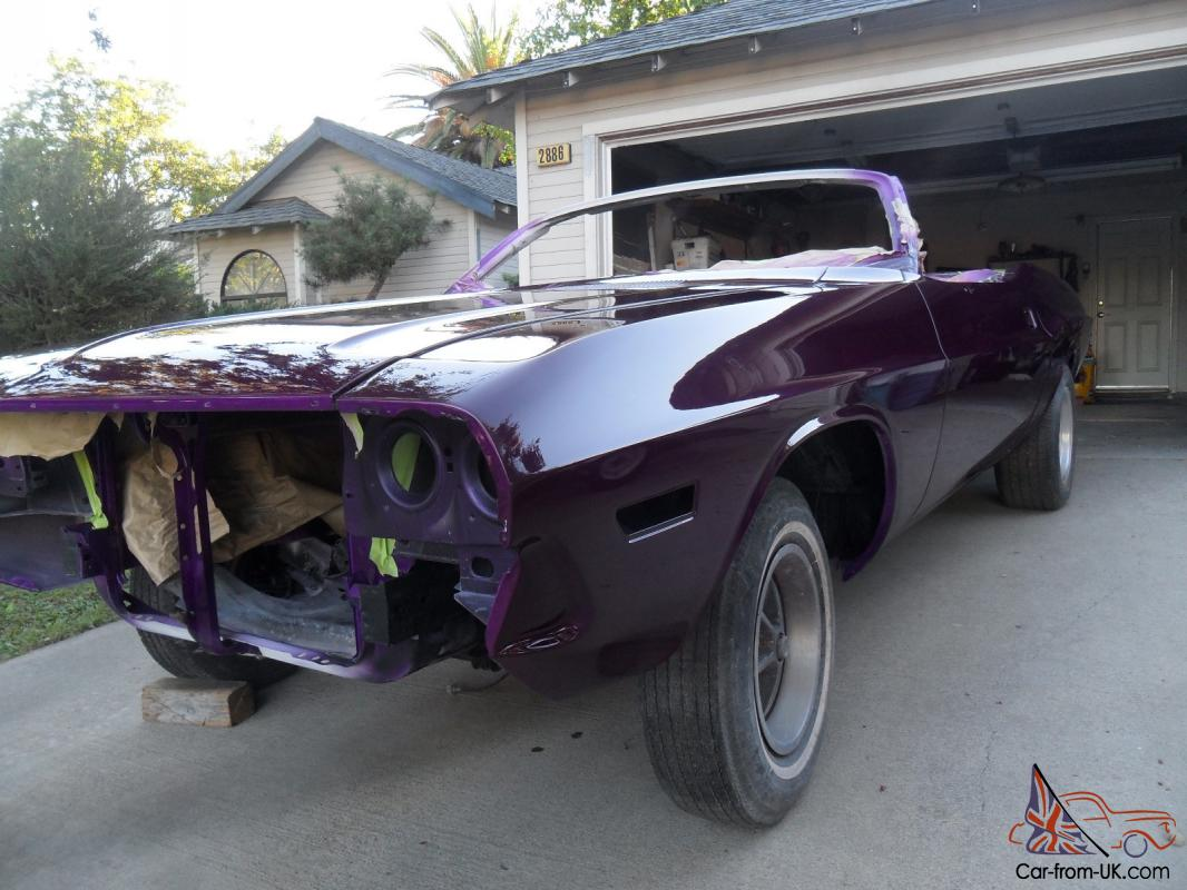 1970 Dodge Challenger Convertible Project Car