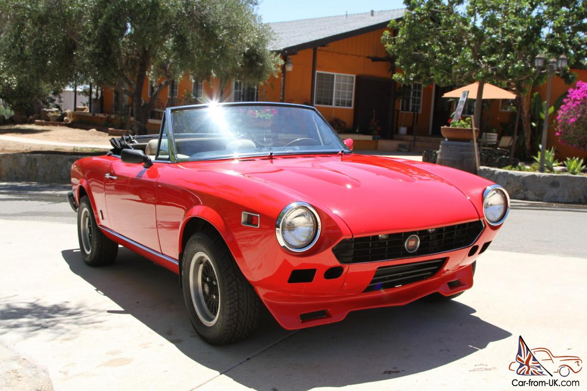 1976 fiat 124 spider convertible. Black Bedroom Furniture Sets. Home Design Ideas