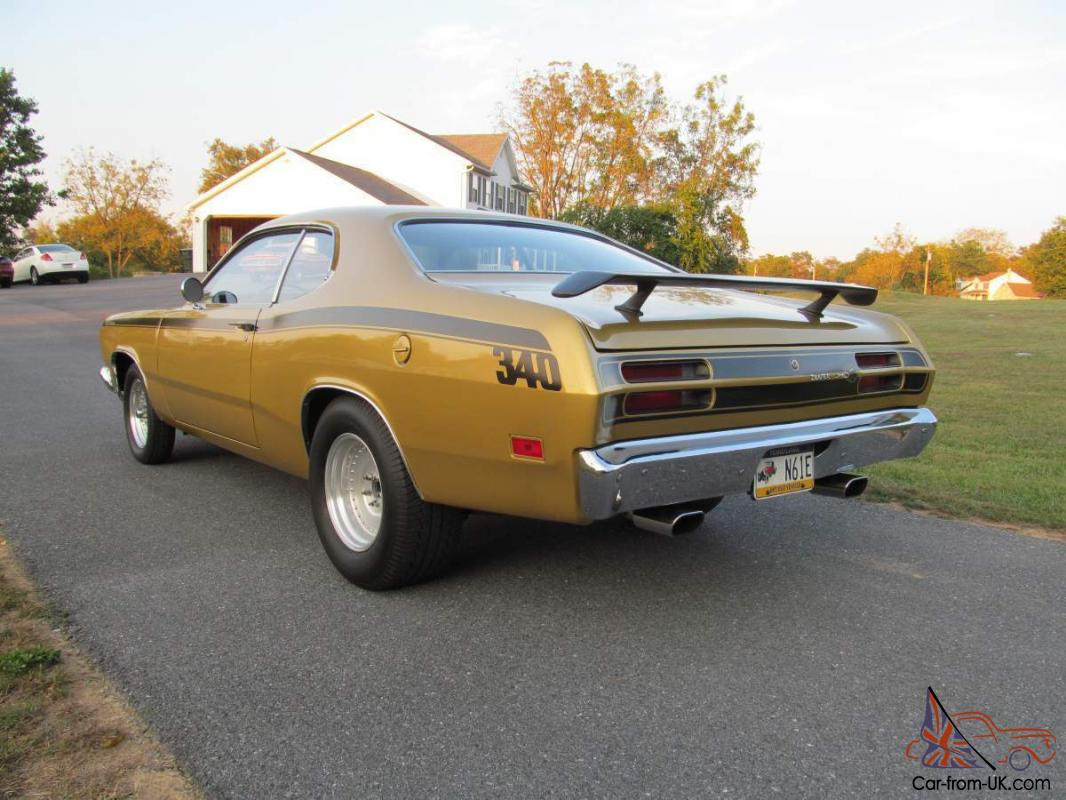1971 plymouth duster 340 4spd rust free. Black Bedroom Furniture Sets. Home Design Ideas