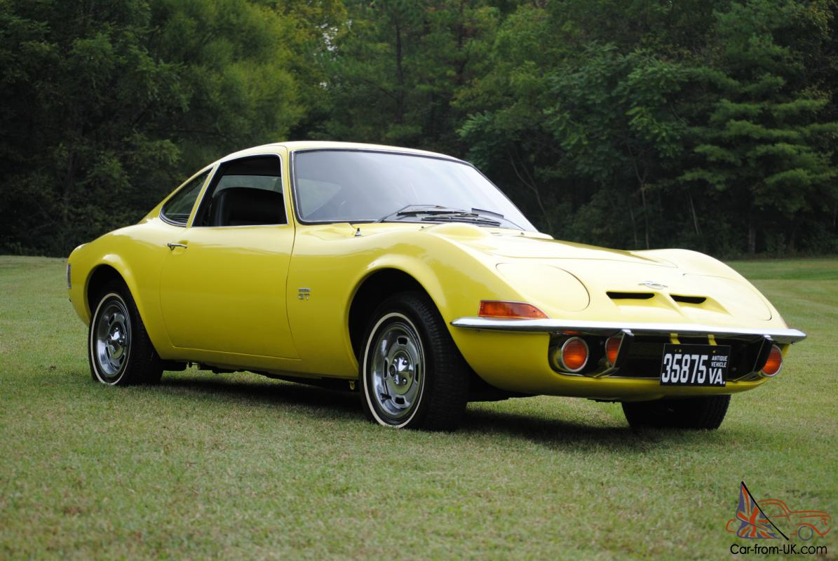 1970 opel gt original ca car 3rd owner auto sunburst yellow black int. Black Bedroom Furniture Sets. Home Design Ideas