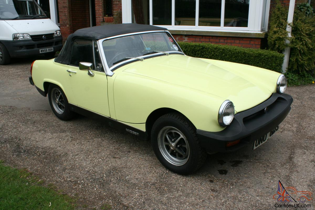 1977 mg midget 1500 just 13 500 miles guaranteed from new. Black Bedroom Furniture Sets. Home Design Ideas