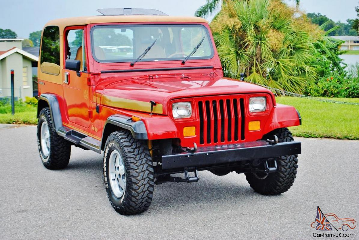 simply beautiful and rare 1988 jeep wrangler olympic edtion 6 cly rh car from uk com 1989 Jeep Wrangler Engine Compartment 1988 Jeep Wrangler Engine Options