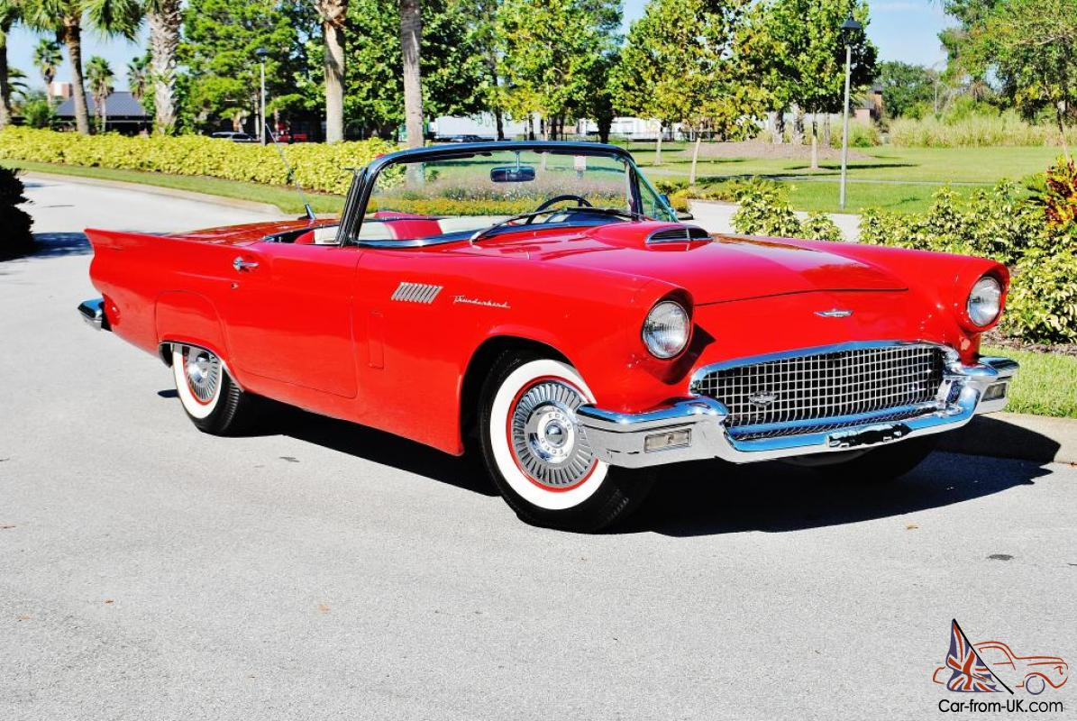 1957 ford thunderbird convertible with hard and soft top simply beautiful sweet. Black Bedroom Furniture Sets. Home Design Ideas