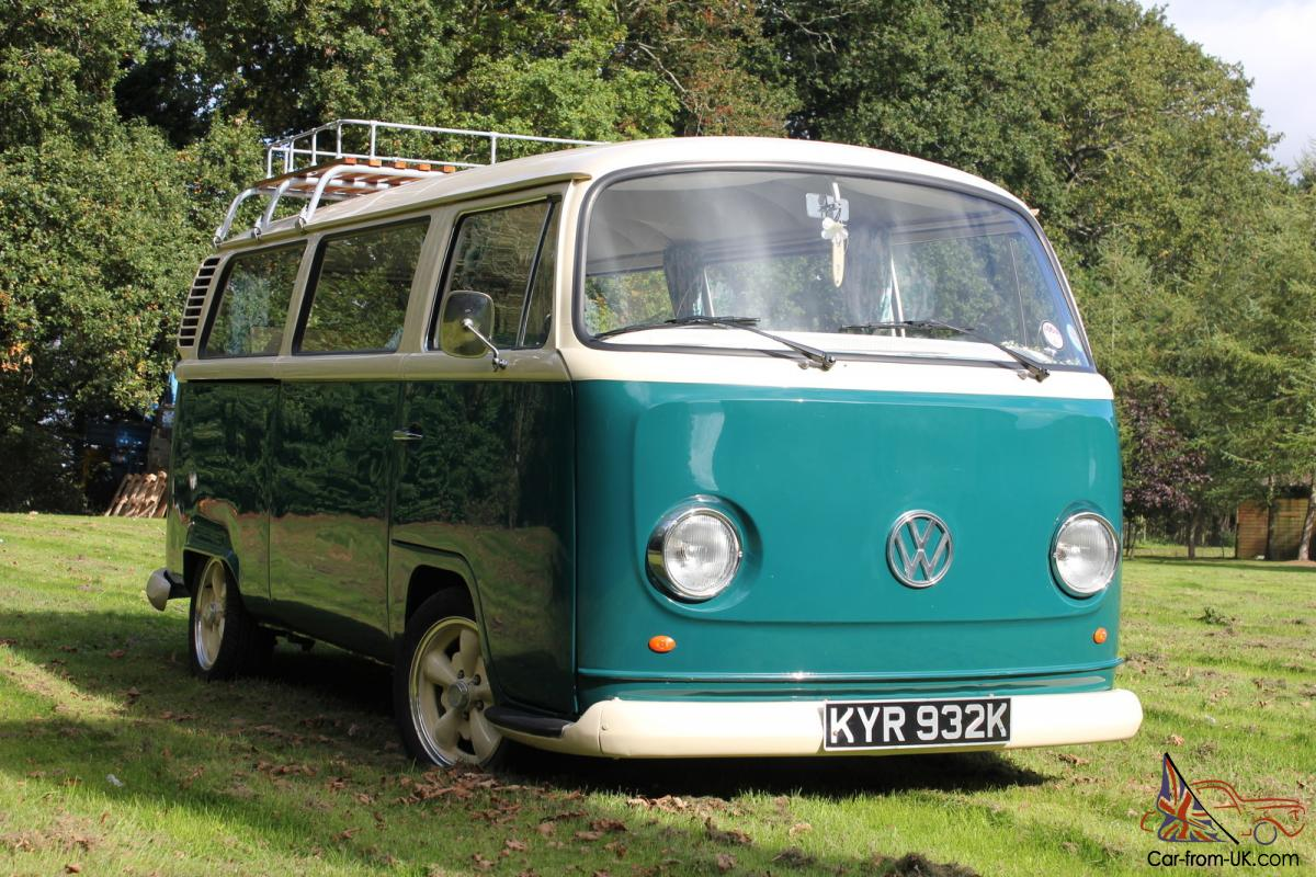 vw campervan t2 1972 tax free bay window restored tin top. Black Bedroom Furniture Sets. Home Design Ideas