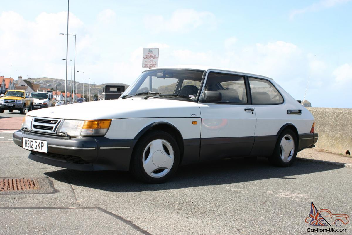 1991 Saab 900 Turbo Dohc T16 S Eyecatching In White  Very Good Condition