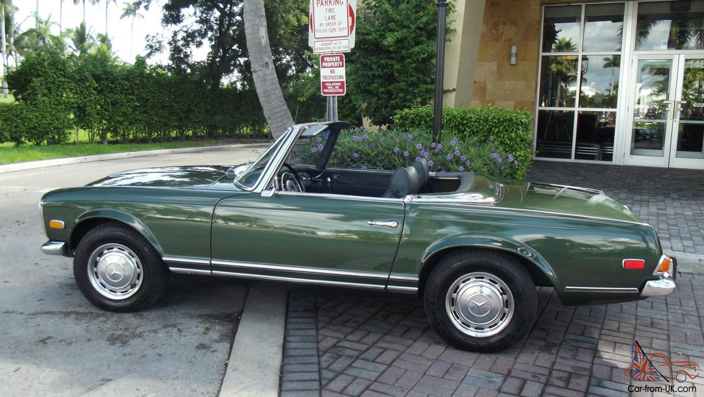 1970 MERCEDES BENZ 280SL. AUTOMATIC, TWO TOPS, LEATHER INTERIOR ...