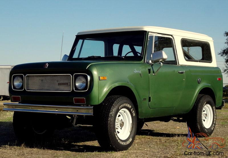 1970 international scout 800a 4x4 half cab pickup and full suv top automatic. Black Bedroom Furniture Sets. Home Design Ideas
