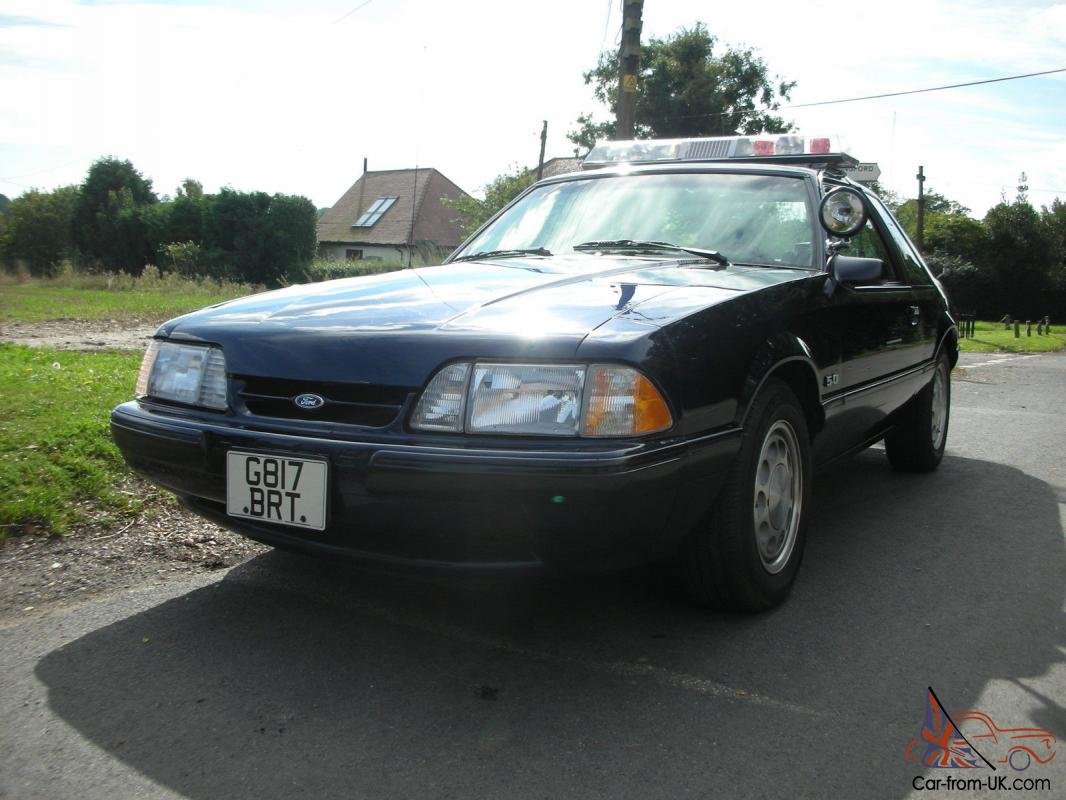 1990 Ford Mustang Special Service Package Police Fox Notch