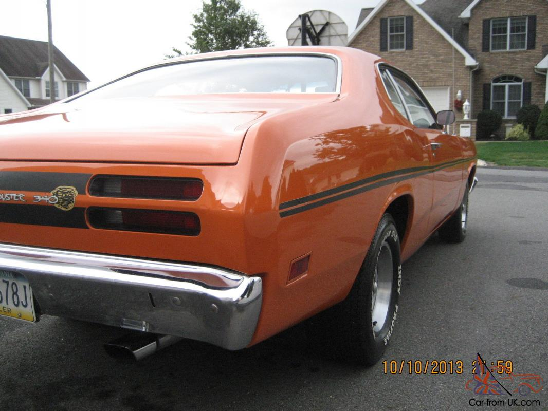1970 plymouth duster 340 h code 4spd restored stroker motor 400hp pluse. Black Bedroom Furniture Sets. Home Design Ideas