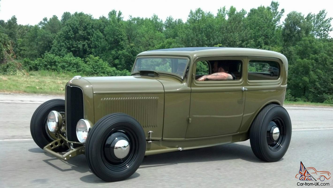 1932 FORD SEDAN, Tudor, Hot Rod, Street Rod, Steadfast Mfg