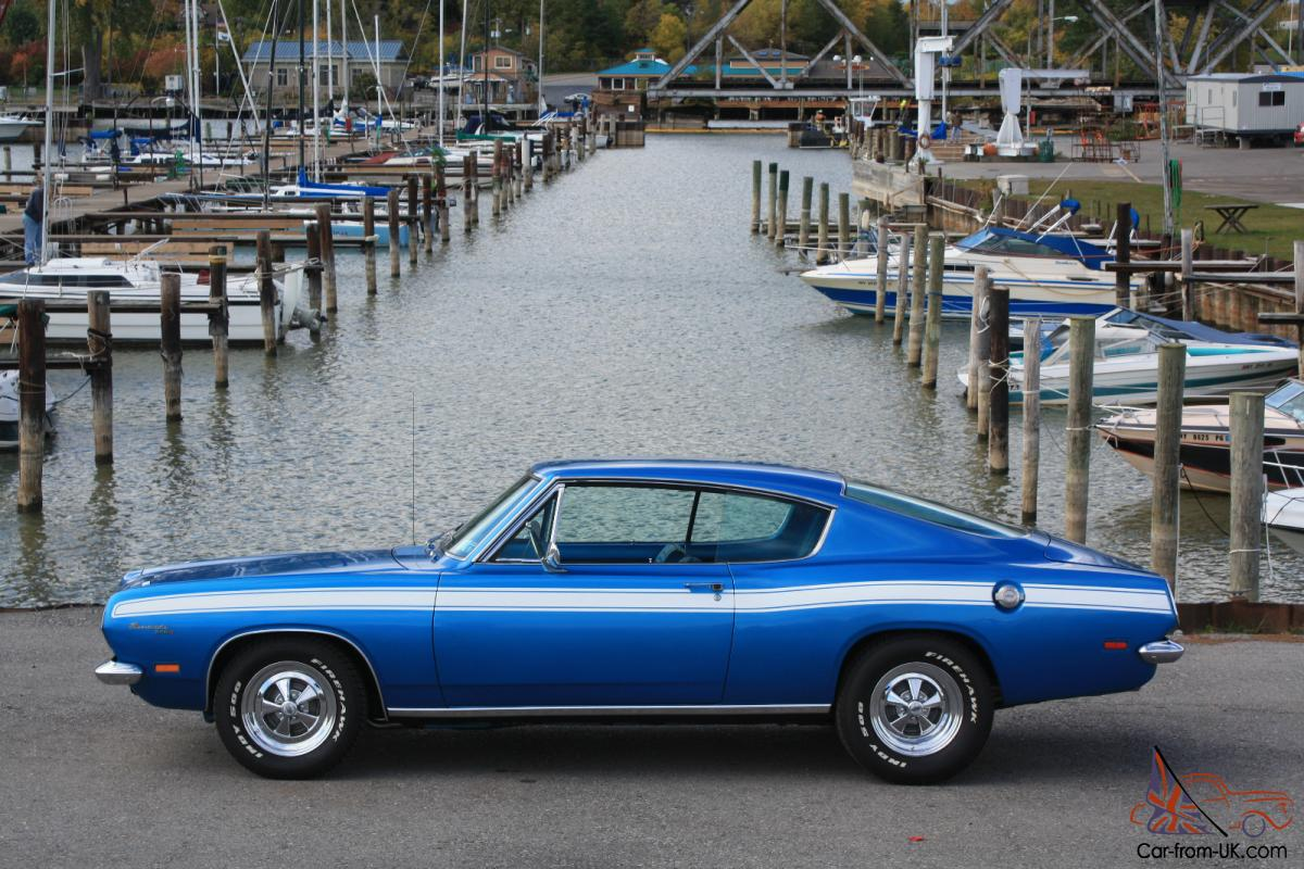 69 340 barracuda numbers match blue on blue rare nice low