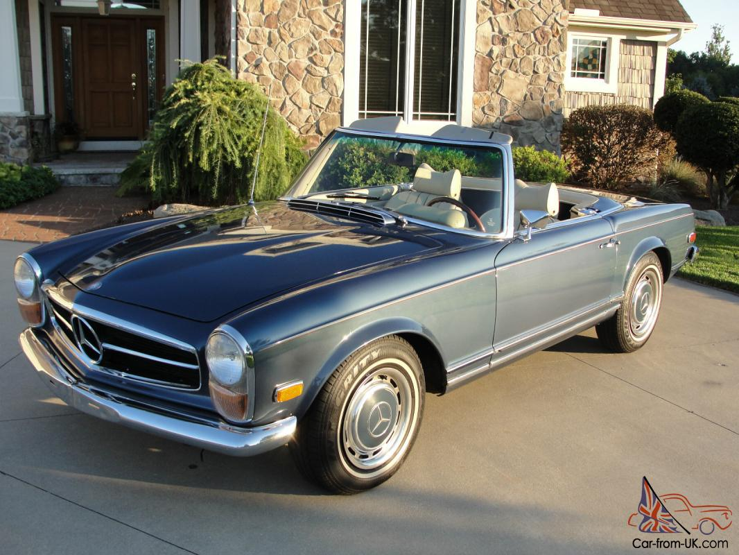 1970 mercedes benz 280sl pagoda w113 medium blue parchment for Mercedes benz 280sl pagoda