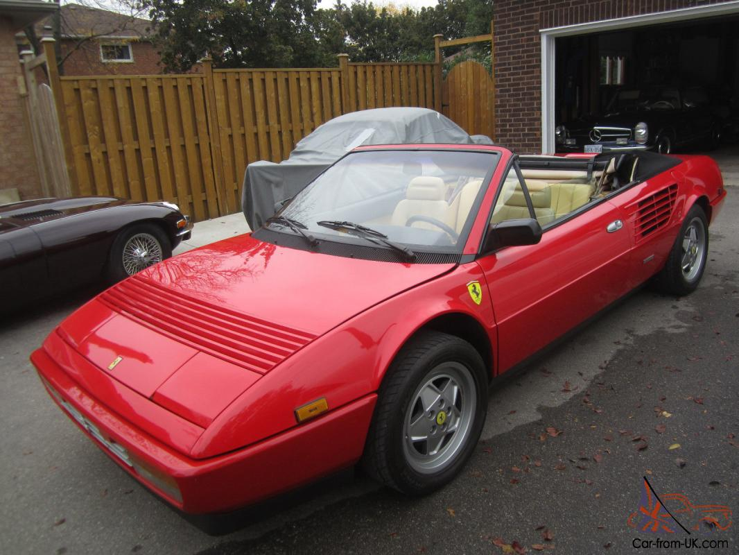 87 ferrari mondial 3 2 convertible 48k orig miles full service just done new top. Black Bedroom Furniture Sets. Home Design Ideas